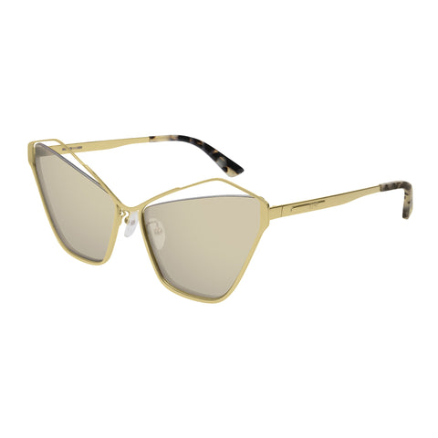 Mcqueen Female Mq0158s Gold Cat-eye Sunglasses