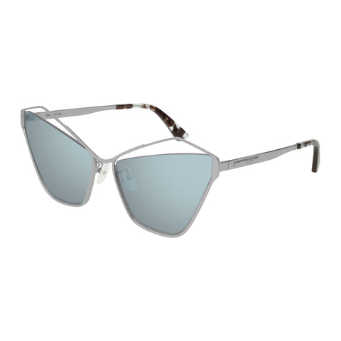 Mcqueen Female Mq0158s Silver Cat-eye Sunglasses