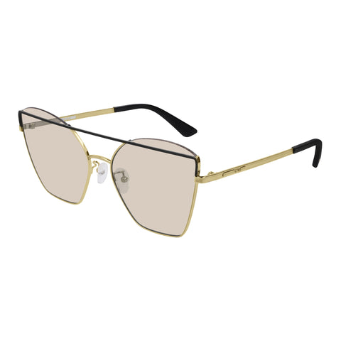 Mcqueen Female Mq0163s Black Cat-eye Sunglasses