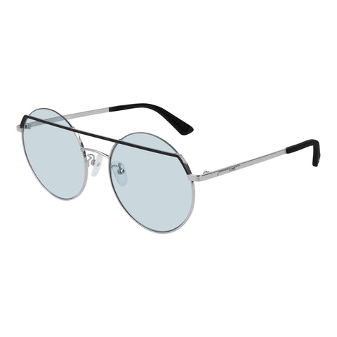 Mcqueen Uni-sex Mq0164s Black Round Sunglasses
