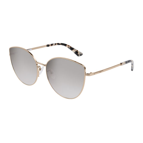 Mcqueen Female Mq0184sk Gold Round Sunglasses
