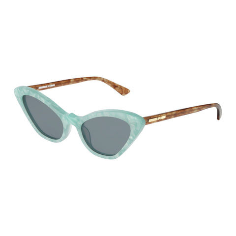 Mcqueen Female Mq0189s Green Cat-eye Sunglasses