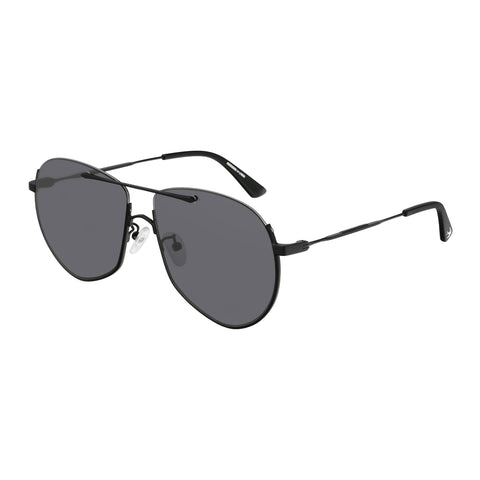 Mcqueen Uni-sex Mq0203s Black Aviator Sunglasses