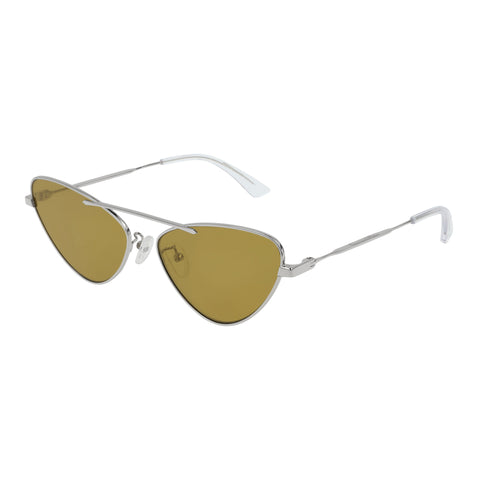 Mcqueen Female Mq0204s Silver Cat-eye Sunglasses