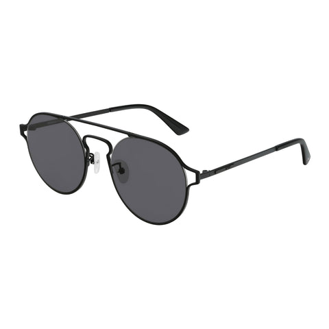 Mcqueen Uni-sex Mq0211sa Black Round Sunglasses