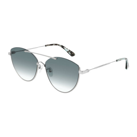Mcqueen Female Mq0214sa Silver Cat-eye Sunglasses