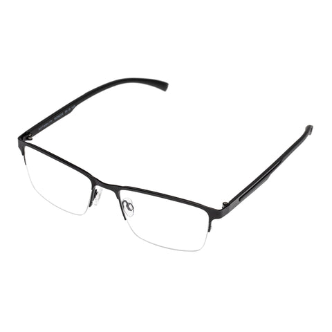 Morrissey Male Notability Black Modern Rectangle Optical Frames