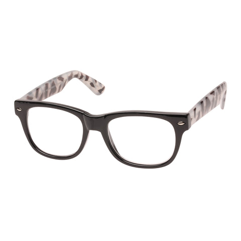 Oppen Uni-sex How Eye Roll Black Modern Rectangle Readers