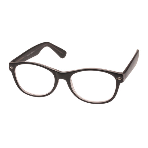 Oppen Uni-sex Shush Black Modern Rectangle Readers