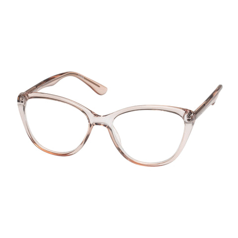 Oppen Female Hearted Pink Cat-eye Readers