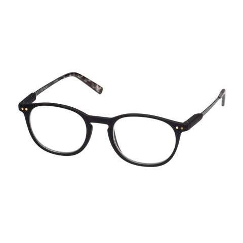 Oppen Uni-sex Air Black Modern Rectangle Readers