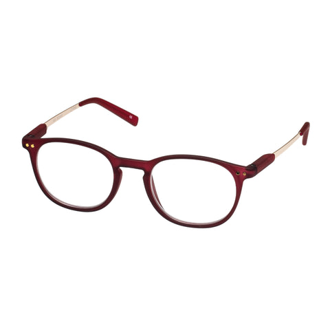 Oppen Uni-sex Air Burgundy Modern Rectangle Readers