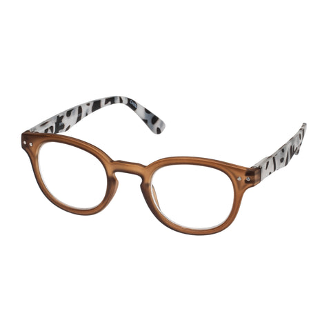 Oppen Uni-sex Spec-tacular Tan Round Readers