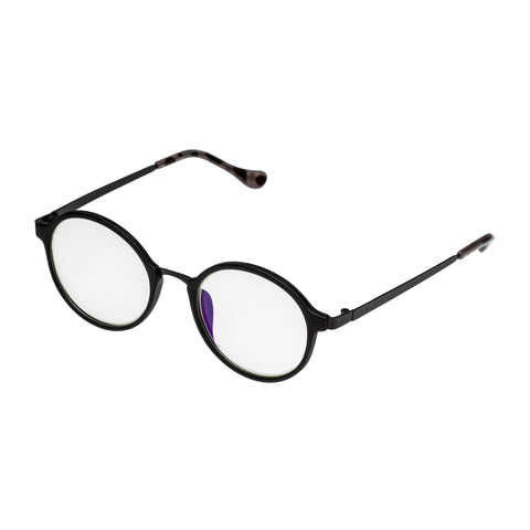Oppen Uni-sex Sky Black Round Readers