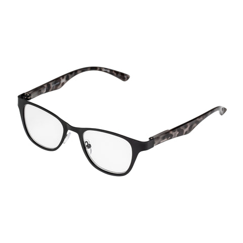 Oppen Female Wrapper Black Cat-eye Readers