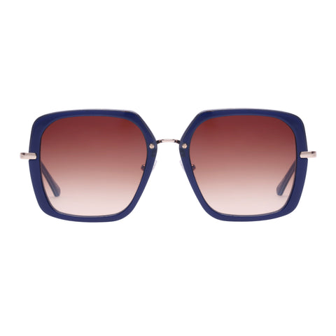 Oroton Female Akira Navy Square Sunglasses