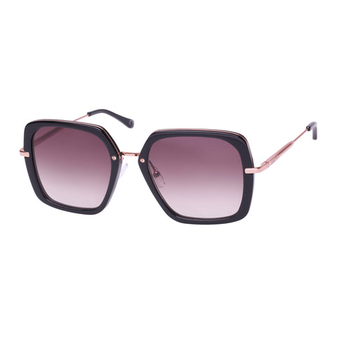 Oroton Female Akira Black Square Sunglasses