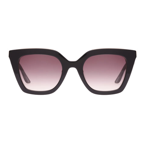 Oroton Female Bristol Black Modern Rectangle Sunglasses