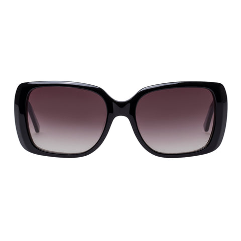 Oroton Female Abroad Black Wrap Fashion Sunglasses