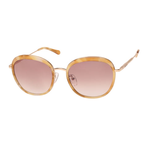 Oroton Female Allure Tort Round Sunglasses