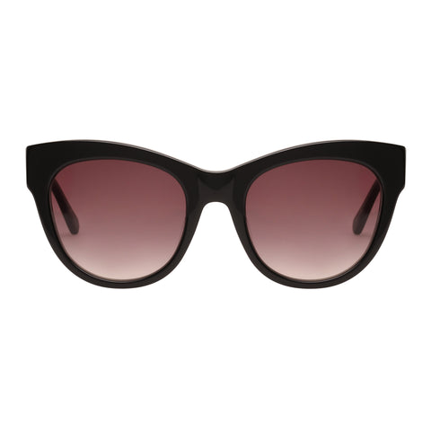 Oroton Female Liberty Black Cat-eye Sunglasses
