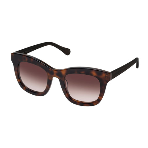 Oroton Female Isabelle Tort Modern Rectangle Sunglasses