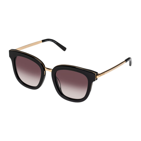 Oroton Female Margot Black Square Sunglasses