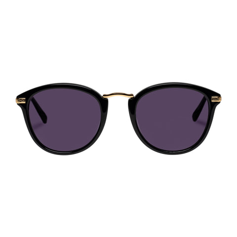 Oroton Female Odette Black Round Sunglasses