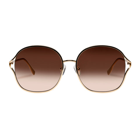 Oroton Female Ellie Gold Round Sunglasses