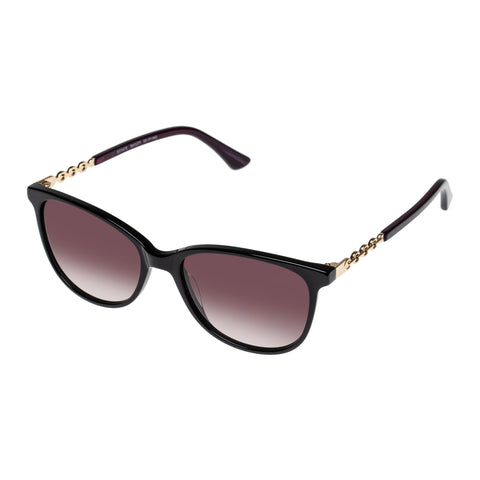 Oroton Female Estate Black Modern Rectangle Sunglasses