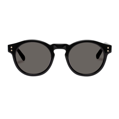 Oroton Female Cleo Black Round Sunglasses
