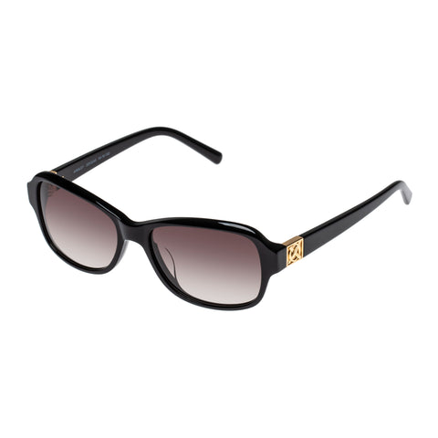 Oroton Female Ainsley Black Wrap Fashion Sunglasses