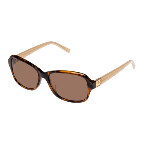 Oroton Female Ainsley Tort Wrap Fashion Sunglasses