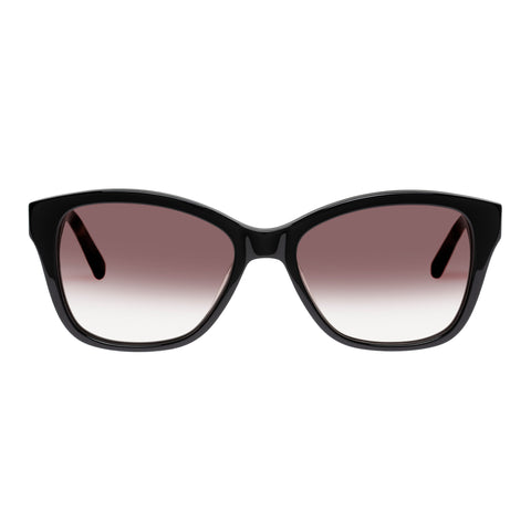 Oroton Female Claire Black Modern Rectangle Sunglasses