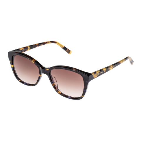 Oroton Female Claire Blue Horn Modern Rectangle Sunglasses