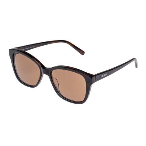Oroton Female Claire Tort Modern Rectangle Sunglasses