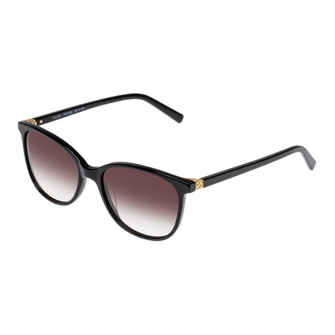 Oroton Female Lillian Black Modern Rectangle Sunglasses