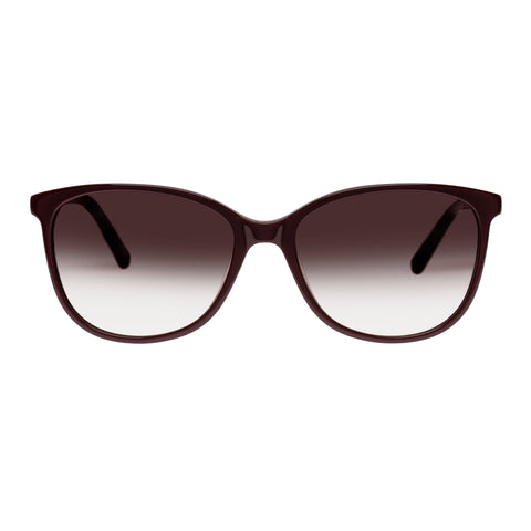 Oroton Female Lillian Burgundy Modern Rectangle Sunglasses