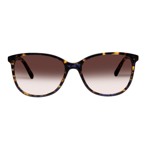 Oroton Female Lillian Blue Horn Modern Rectangle Sunglasses