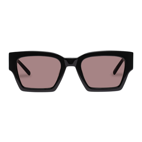 Oroton Female Stevie Black Modern Rectangle Sunglasses