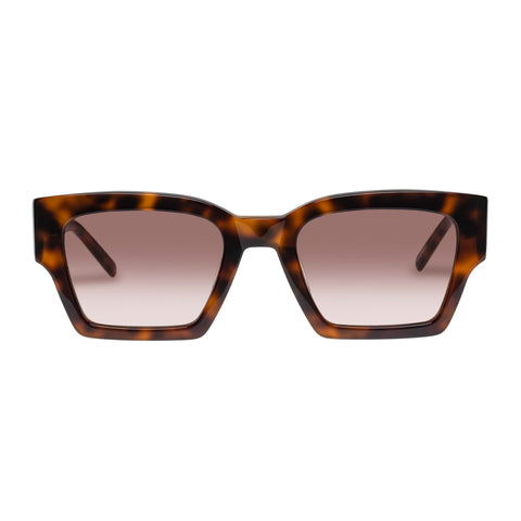 Oroton Female Stevie Tort Modern Rectangle Sunglasses
