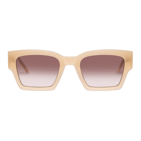 Oroton Female Stevie Beige Modern Rectangle Sunglasses