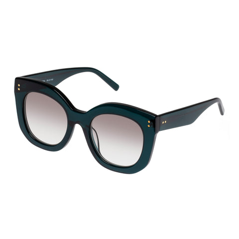 Oroton Female Wyatt Green Modern Rectangle Sunglasses