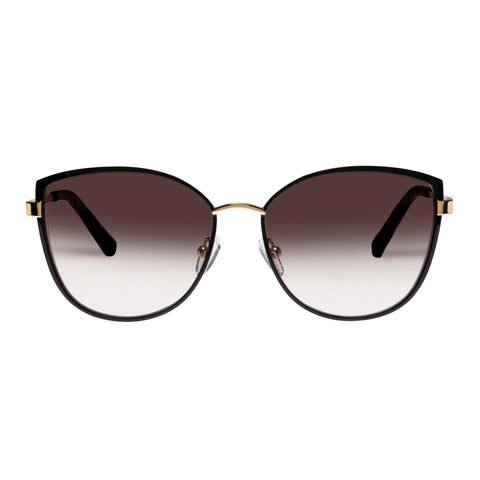 Oroton Female Ebony Black Cat-eye Sunglasses