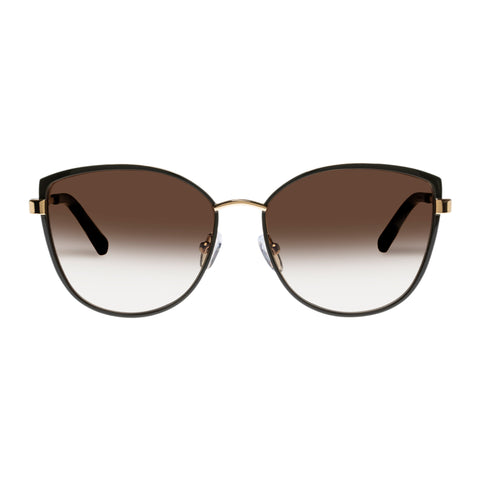 Oroton Female Ebony Khaki Cat-eye Sunglasses