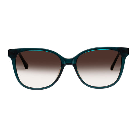 Oroton Female Uma Green Modern Rectangle Sunglasses