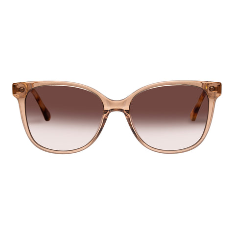 Oroton Female Uma Tan Modern Rectangle Sunglasses