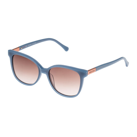 Oroton Female Uma Blue Modern Rectangle Sunglasses