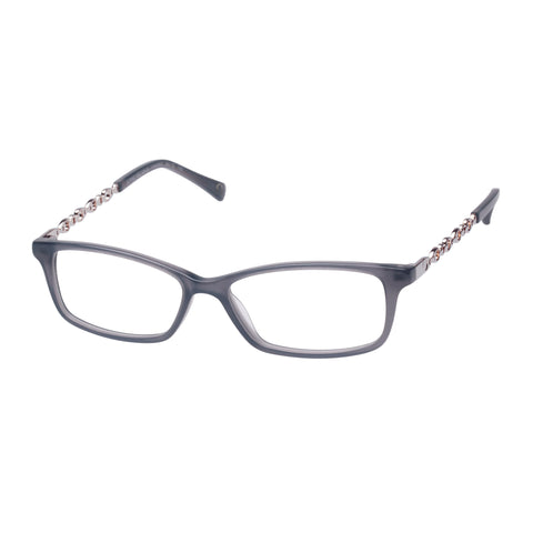Oroton Female Alpine Elegant Grey Modern Rectangle Optical Frames