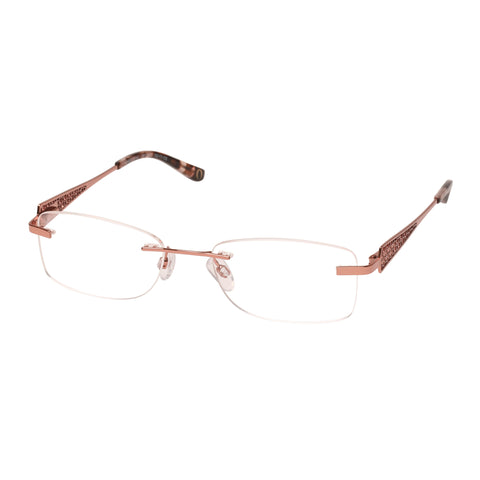 Oroton Female Ambrosial Rose Rectangle Optical Frames